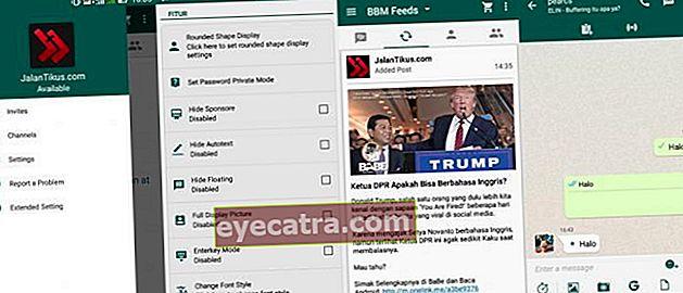 BBM Mod WhatsApp: Skift udseendet på BBM Android, så det ligner WhatsApp
