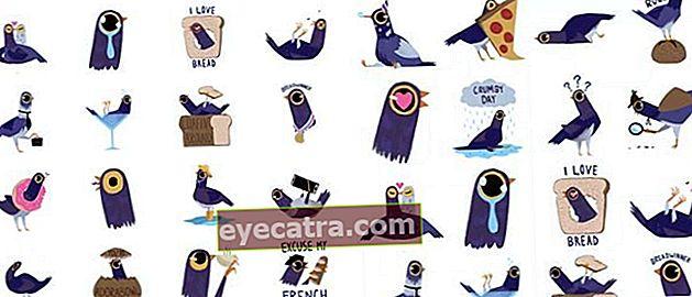 Dette er den Purple Bird Sticker, der igen er dum på Facebook